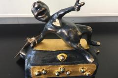 Husk at af alle skatte er livet den største Bronze, 24K bladguldog 8 ægte Tahitiperler (18x19 cm) kr15600