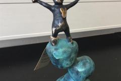 Im On The Top On The World Bronze (25x14 cm) kr 9200