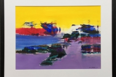 Landskap 162 Akryl på papir (45x60 cm) SOLGT