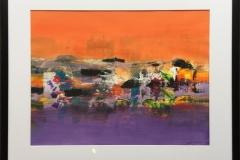Landskap Akryl på papir (45x60 cm) kr 5000 mr