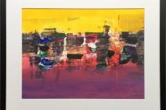 Landskap Akryl på papir (45x60 cm) kr 5100 mr