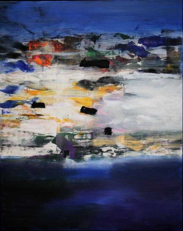 Vinterlandskap Akrylmaleri 100x80 cm 12000 mr