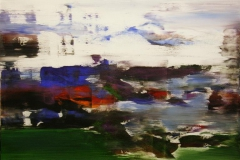 Jaerlandskap I Akrylmaleri 80x80 cm 8500 mr