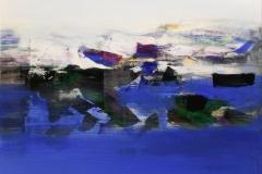 Vinterfjord Akrylmaleri 60x60 cm 6000 mr
