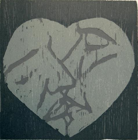 Kyss I Tresnitt 11x11 cm 500,-kr u.r.
