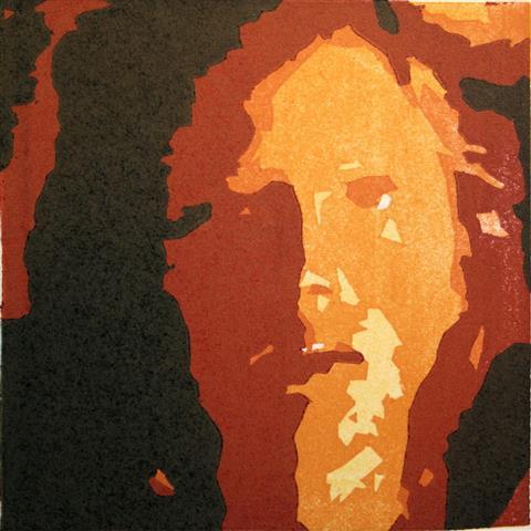 Nattansikt Linosnitt 11x11 cm 500,-kr u.r.