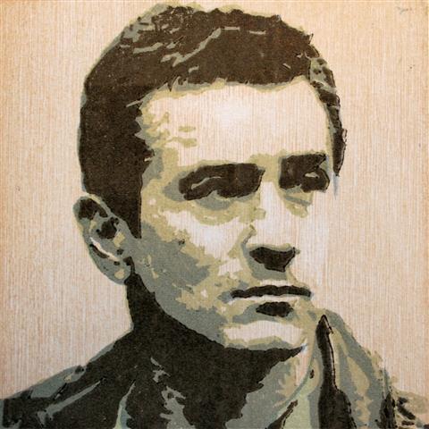 Robert Deniro Tresnitt 11x11 cm 500,-kr u.r.