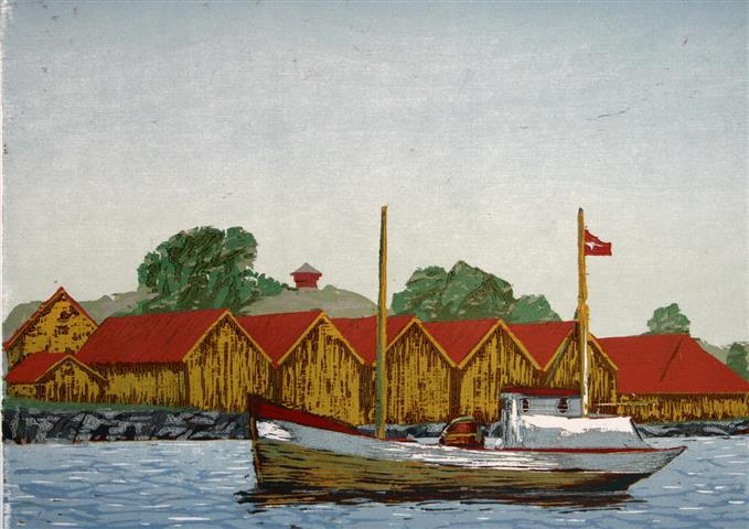 Stavern Tresnitt 25x35 cm 1900,-kr u.r.