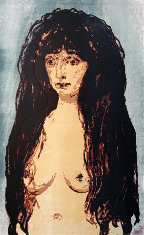 Synden etter Munch Tresnitt 50x31 cm 2900,-kr u.r.