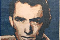 Gregory Peck Tresnitt 11x11 cm 500,-kr u.r.