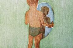 I speilet Tresnitt 21x17 cm 900,-kr u.r.