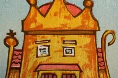Kongehus Tresnitt 11x11 cm 500,-kr u.r.