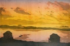 Kveld Linosnitt 26x36 cm 1900,-kr u.r.
