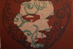 Minne II Linosnitt 10,5x11 cm 500,-kr u.r.