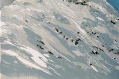 Mot fjellet Linosnitt 37x22 cm 1900,-kr u.r.