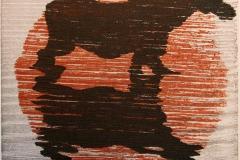 Sol i elgnedgang Tresnitt 11x11 cm 500,-kr u.r.