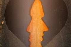 To I Tresnitt 11x11 cm 500,-kr u.r.