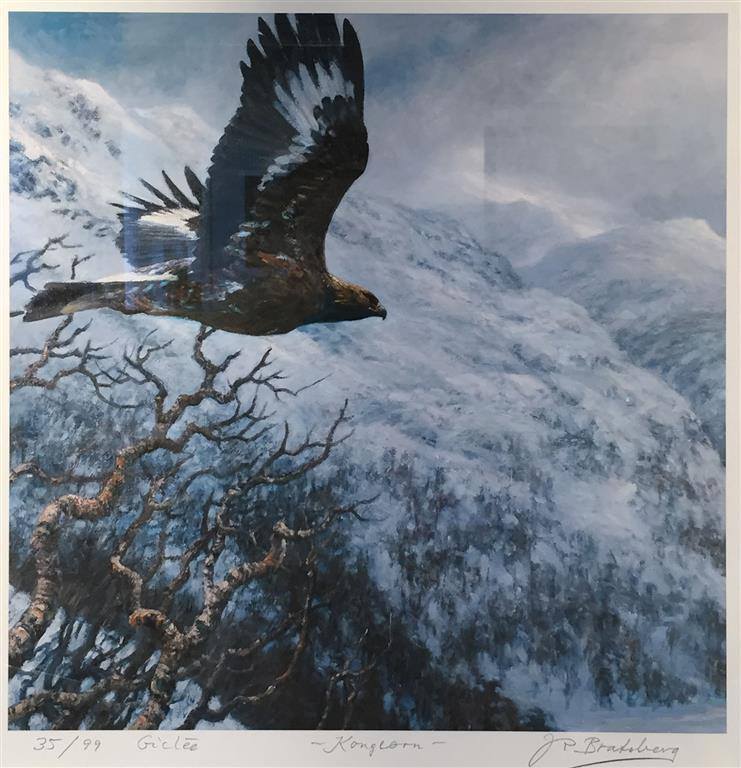 Kongeorn Giclee-trykk 40x40 cm 3500 mr