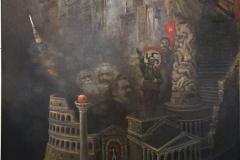 Babels torn Oljemaleri 160x120 cm KE