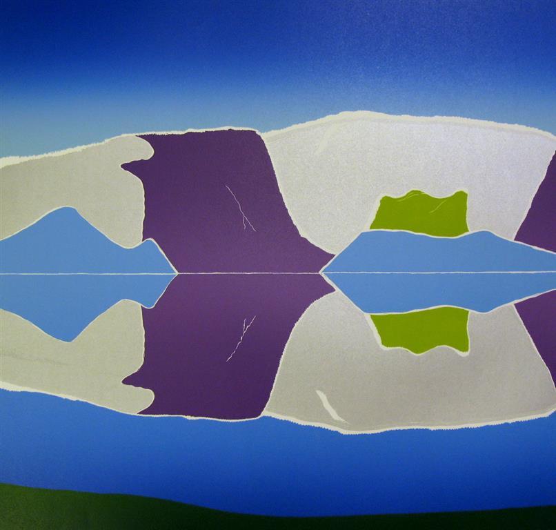 Klart og kaldt Linosnitt (50,5x53,5 cm) kr 4500 ur