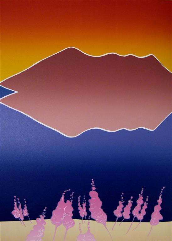 Nattstemning i ishavet I Linosnitt (54x38 cm) kr 4500 ur