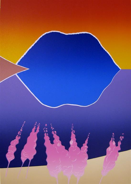 Nattstemning i ishavet III Linosnitt (54x38 cm) kr 4500 ur