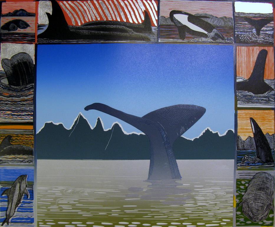 Safari I Linosnitt (42,5x52 cm) kr 4000 ur