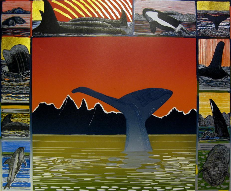Safari II Linosnitt (42,5x52 cm) kr 4000 ur