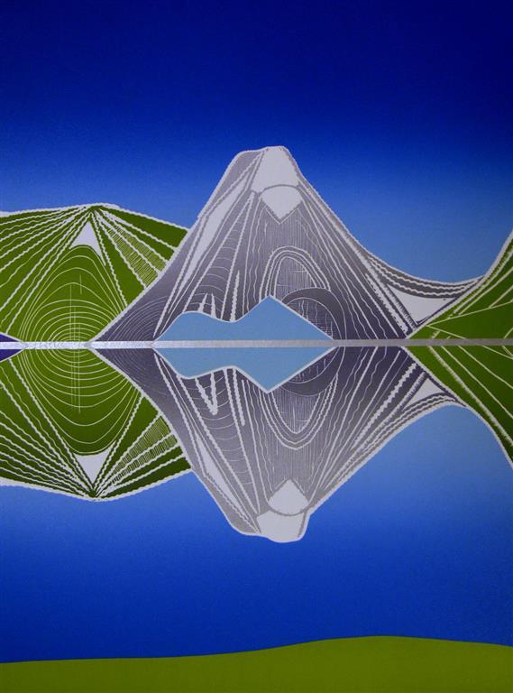 Speilbilde II Linosnitt (49,5x36 cm) kr 2500 ur