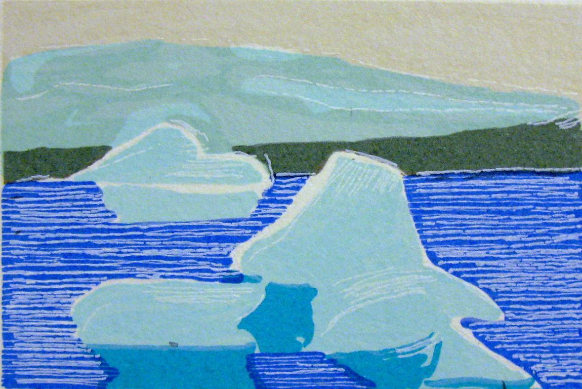 Svalbard Litografi (7x10,5 cm) kr 250 ur