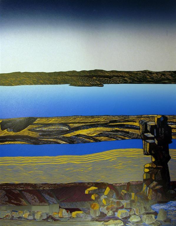 Thingvellir I Linosnitt (58x44 cm) kr 4500 ur