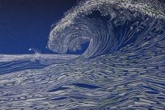 Bølgen Linosnitt (22x25 cm) kr 650 ur