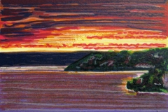 Kveld Litografi (7x10 cm) kr 250 ur