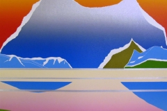 Når solen ikke vil gå ned Linosnitt (48x53 cm) kr 5000 ur