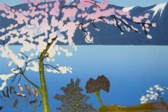 Spring in the Fjord Linosnitt (53x38 cm) kr 4000 ur