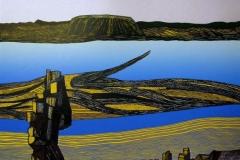 Thingvellir II Linosnitt (58x44 cm) kr 4500 ur