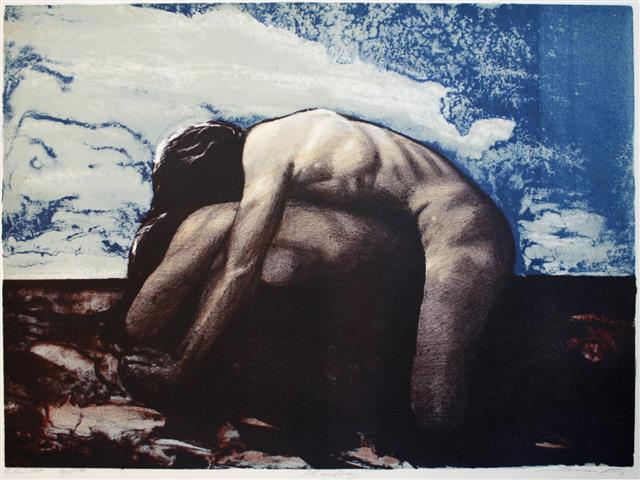 Himling Litografi (40x55,5 cm) kr 3000 ur