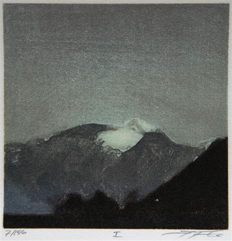 I Litografi (13x13 cm) kr 900 ur