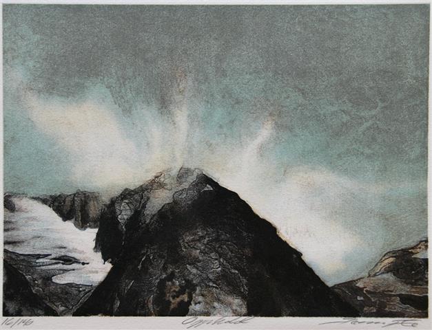 Opphold Litografi (20,5x28 cm) kr 1600 ur