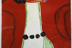 Moderne kvinne i selvfordypelse Etsning 36x27 cm 3000 ur