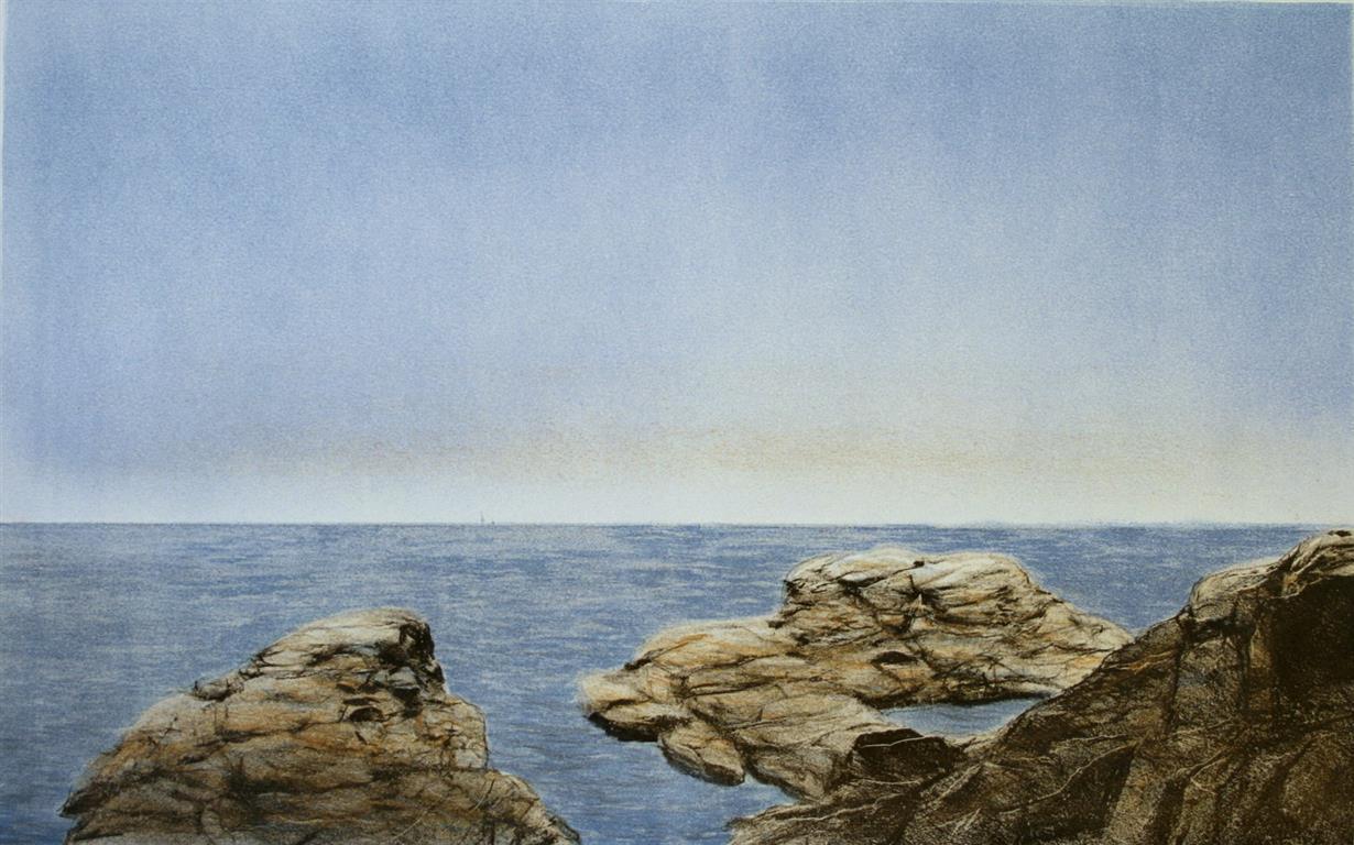 Ut mot havet Litografi 31x49 cm 1500 ur (Medium)