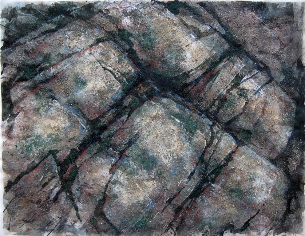 Fjellstudie III Blandet teknikk 48x62,5 cm 3000 ur