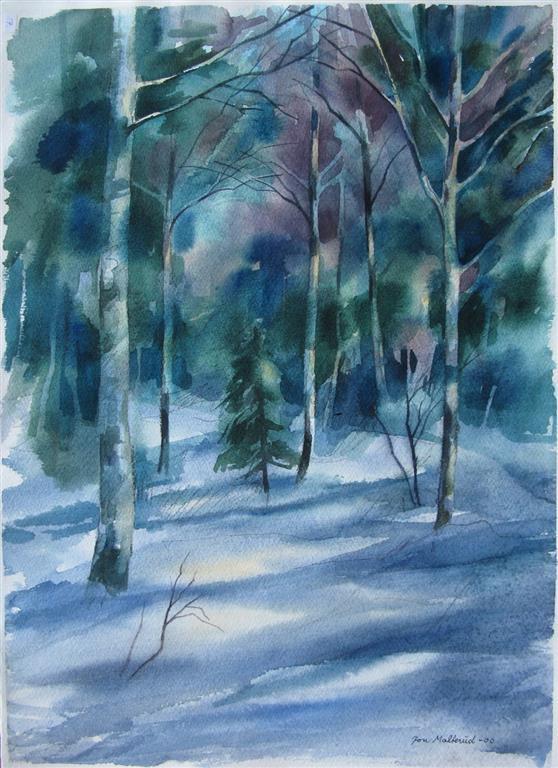 Sporloes Akvarell 52,5x37 cm 2500 ur