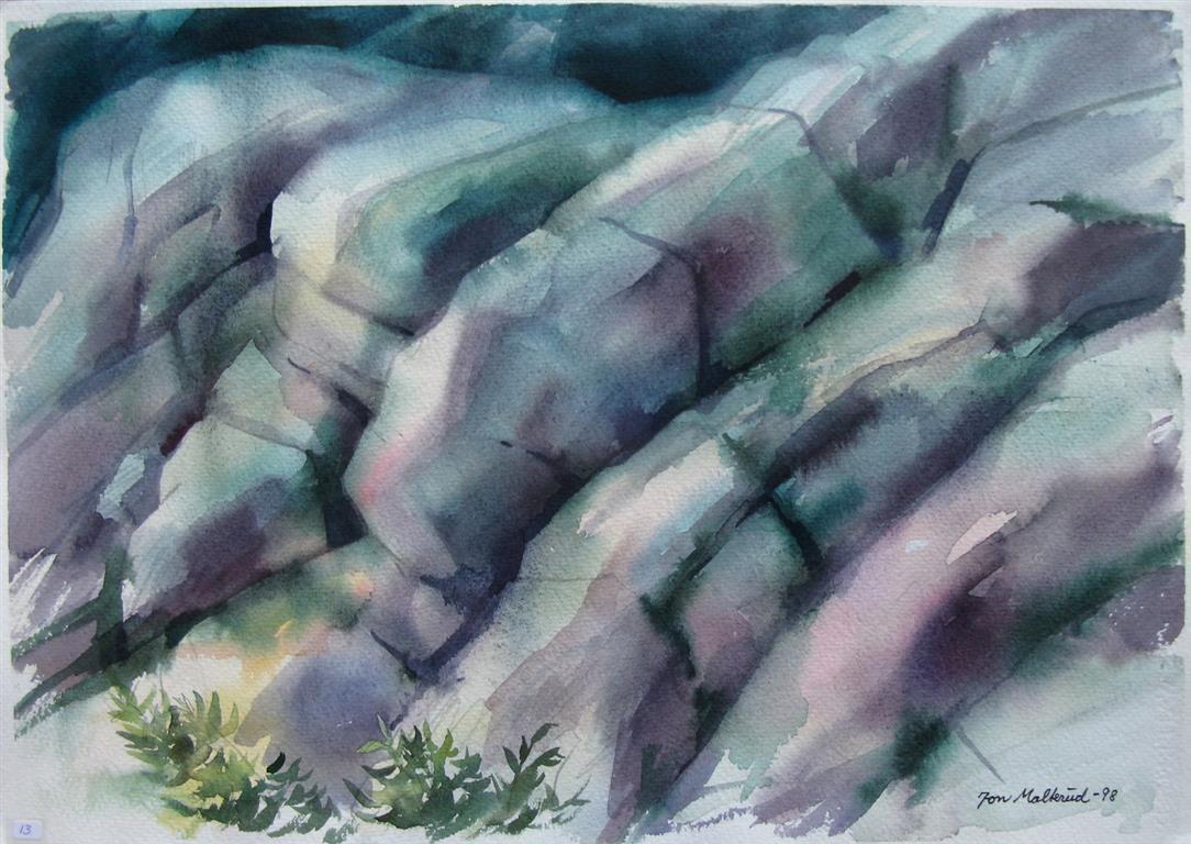 Steinstudie Akvarell 37x52,5 cm 2500 ur