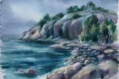 Bukt Akvarell 37x52,5 cm 2500 ur