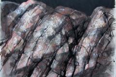 Roedt fjell Blandet teknikk 48x62,5 cm 3000 ur