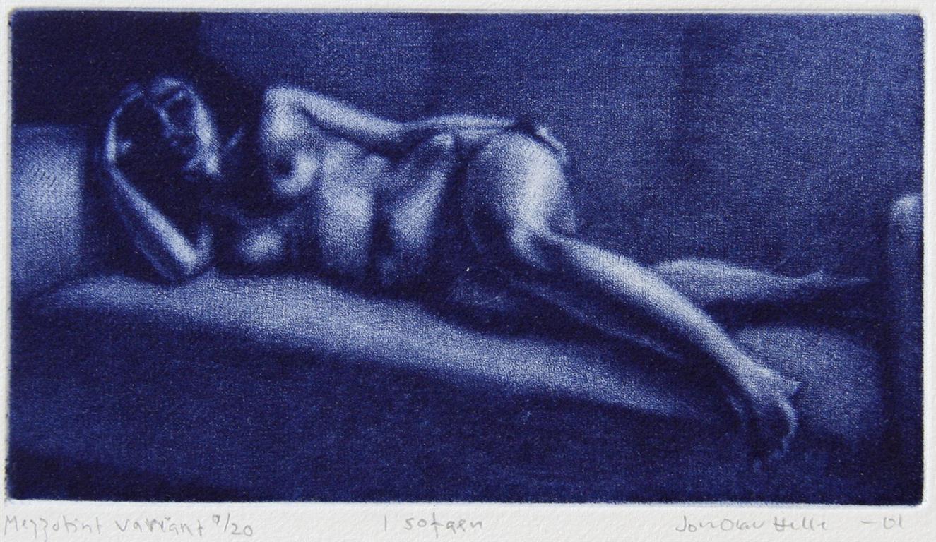 I sofaen Mezzotint variant 8x14,5 cm 800 ur