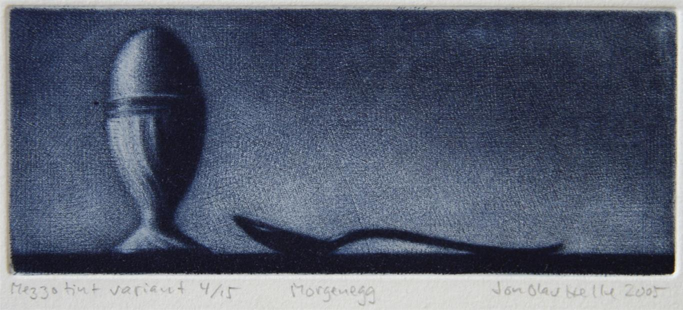 Morgenegg variant Mezzotint 6x14 cm 800 ur