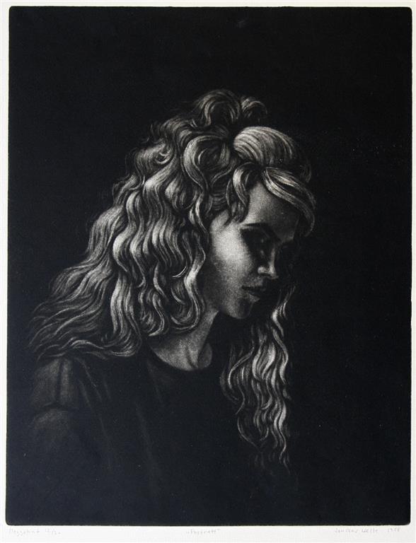 Portrett Mezzotint 34,5x27 cm 1000 ur