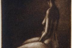 Lang hals Mezzotint 8x7,5 cm 600 ur
